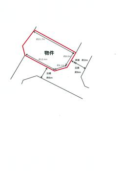 区画図 | 亀山市関町鷲山 売地(亀山市土地)