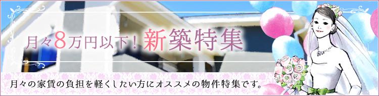 月々8万円以下!新築特集