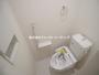 ウォシュレット標準仕様 壁面収納があり、ペーパーのストックやタオル類もすっきり片付きます!(2月10日)撮影|川越市霞ヶ関北3丁目の家(川越市新築一戸建て)