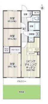 間取図 | セザール多摩川(大田区中古マンション)