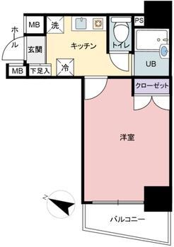 間取図 : 10階建の7階部分、オーナチェンジ物件です。 サブリース契約を結んでおり、賃料保障78,800円、表面利回り4.11%です。 詳細は担当まで。   ロイヤルパレス初台(渋谷区中古マンション)