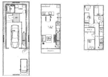区画図 : 1号棟 建築プラン | 刈谷市東陽町 2区画(刈谷市土地)