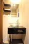 洗面台は平成28年10月に新規交換しております!デザイン性の高いお洒落な洗面台でございます。
